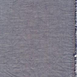 Let krøllet bomulds-voil meleret i mørkeblå-20