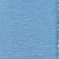 Let krøllet bomulds-voil meleret i turkisblå-20