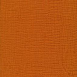Bomuld i Double Gauze i lys brændt orange-20