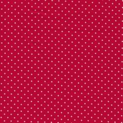 Bomuld med små prikker i rød/hvid-20