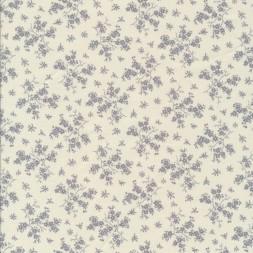 Bomuld m/grene med blomster i hvid/lysegrå-20