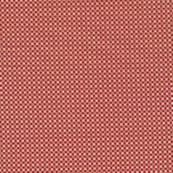 Fast stof i bomuld småternet i rød, sand, offwhite og guld-20