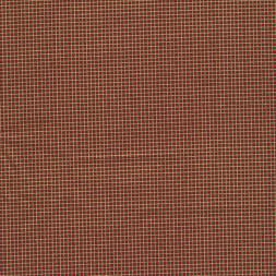 Fast stof i bomuld småternet i rød, mørkegrøn og guld-20