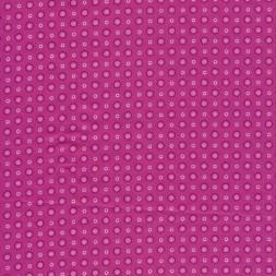 Bomulds poplin i pink med cirkel-20