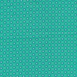 Bomulds poplin i irgrøn med cirkel-20