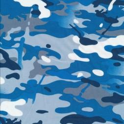 Bomuld i camuflage/army print i blå, grå og hvid-20