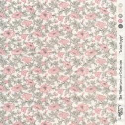 Bomuldspoplin Liberty Nina Poppy i hvid lyserød lysegrøn-20