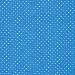 Bomuld m/hvide små prikker, turkis-20