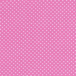 Bomuld m/hvide små prikker, lyserød-20