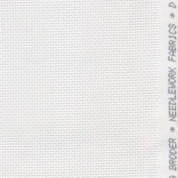 Afklip Aida broderistof, hvid 5,5 trådet 50x55 cm.-20