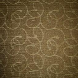 Afklip Møbelstof m/mønster, oliven/lime 50 cm.-20