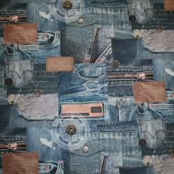 Bomuld m/digitalt print, cowboy-20