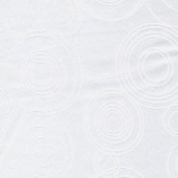 Rest Dug-stof jacquard m/cirkler, hvid 70 cm.-20