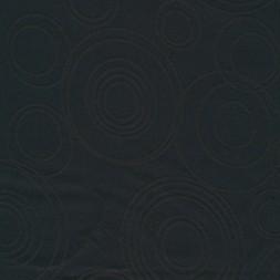 Dug-stof jacquard m/cirkler, sort-20