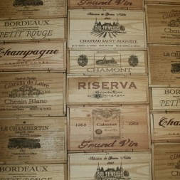 Bomuld/polyester med vin-kasser-20
