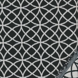 Bomuld/polyester m/cirkler sort/knækket hvid-20