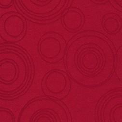 Dug-stof jacquard m/cirkler, rød-20