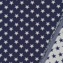 Bomuld/polyester m/stjerner mørkeblå/knækket hvid-20