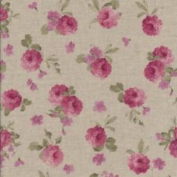 Hør-look m/rosa blomster-20