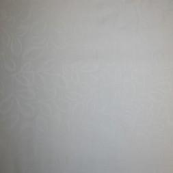 Dug-stof Damask m/blad-ranke, hvid 160 cm.-20