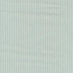 Kraftig bomuld/polyester i stribet sildeben i off-white og lys aqua-20