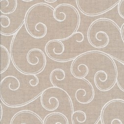 Hør-look med snirkel mønster i hvid-20