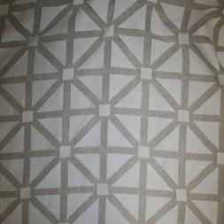 Let gardinstof med firkant-mønster i knækket hvid-20