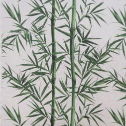 Hør-look med bambus rør og blade-20