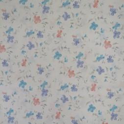 Hvid polyester med blomster til badeforhæng-20