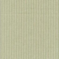Kraftig bomuld/polyester i stribet sildeben i off-white og lysegrøn-20