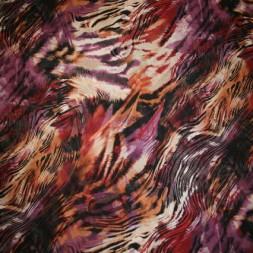 Chiffon zebra-mønstret lilla/bordeaux/kit-20