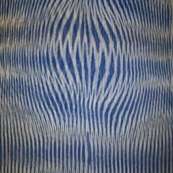 Chiffon m/stribe-mønster kobolt/lyseblå/hvid-20
