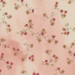 Chiffon batik m/blomster rosa/off-white-20