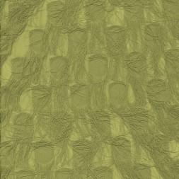 Chiffon med prikker og frynser i oliven-20