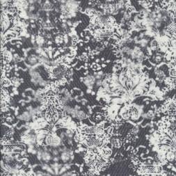 Bengalin med print i koksgrå og hvid-20
