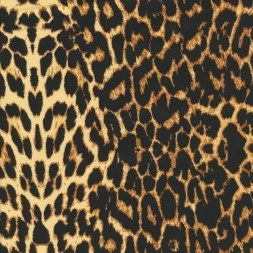 Cowboy twill-vævet med stræk i leopard-print i sort, gylden-20