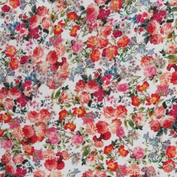 Cowboy med stræk digital print blomstret i hvid rød grøn-20
