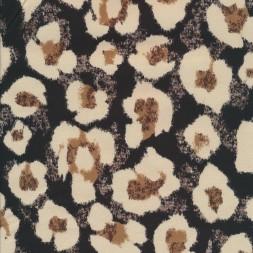 Cowboy med stræk digital print i sort med difuse blomster-20