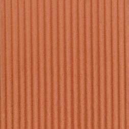 Fleece med striber-riller i støvet orange-20