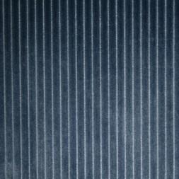 Rest Fleece med striber-riller i støvet blå 65 cm.-20