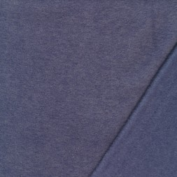 Fleece med viskose meleret i denim-20