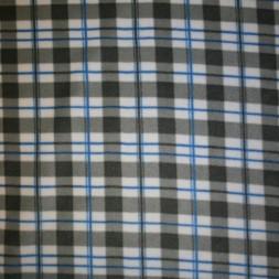 Fleece med tern i hvid, grå og klar blå-20