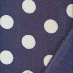 Fleece med prikker/bomber i mørkeblå og hvid-20