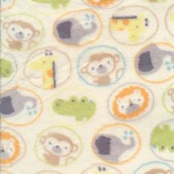 Fleece i offwhite med cirkler med dyr-20
