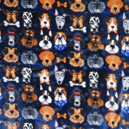 Fleece med hunde i mørkeblå-20