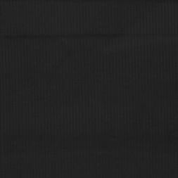 Rest Bredriflet fløjl med stræk i sort, 65 cm.-20