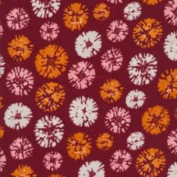 Babyfløjl med frøskærme i rust orange lyserød-20