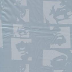 Acetat foer, lysegrå/blå m/ansigter-20