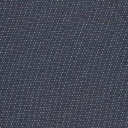 Viskose foer med i støvet blå med vævet sølvgrå prik-20