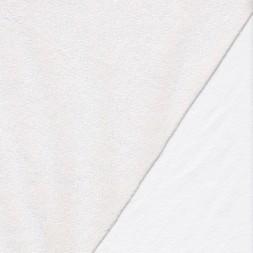 Hvid frotté gummi bagside, almindelig-20